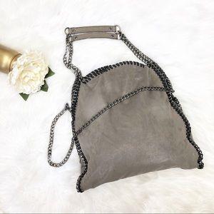 Steve Madden Gray Shimmer Chain Bag Purse